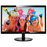 "24"" Philips 246V5LDSB 1920x1080 TN LED 16:9 1ms VGA DVI HDMI 10M:1 170/160 250cd Black"