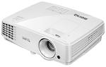 Проектор Benq MS527 DLP; SVGA; 3300 AL; High Contrast Ratio 13,000:1; 10000 hrs lamp life (LampSave mode); SmartEco; 3D via HDMI; 1.9kg; 2W speaker; Noise level: 28dB (eco mode); HDMI 1.4a; Brilliant