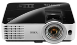 Проектор Benq MX631ST DLP; XGA; Short-throw; Brightness : 3200 AL; High contrast ratio 13,000:1; SmartEco; 10000 hrs lamp life; 10W speaker; 3D via HDMI,  Noise level: 28dB ); Auto Blank; HDMI 1.4a w/