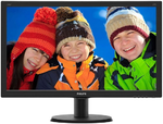 "23,8"" Philips 240V5QDAB 1920x1080 IPS-ADS LED 16:9 5(14)ms VGA DVI-D HDMI 10M:1 178/178 250cd Speakers Black.(240V5QDAB/00/01) (существенное повреждение коробки)"