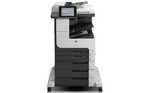 HP LaserJet Enterprise 700 MFP M725z (p/c/s/f, A3, 1200dpi, 40ppm, 1Gb, 320Gb HDD, 6 trays 100+250+250+3x500, Stand, ADF100, Duplex, Stapler, USB/LAN/FIH, Color LCD20i,  1y warr, repl. Q7831A)