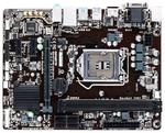 Gigabyte GA-H110M-S2H (Socket 1151, intel H110, 2*DDR4, VGA, DVI, HDMI, PCI-Ex16, Gb Lan, Audio, USB 3.0, SATA 3.0, mATX) ; GAH11MS2H-00-G