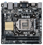 ASUS H110I-PLUS, LGA1151, H110, 2*DDR4, D-Sub+DVI+HDMI, SATA3, Audio, Gb LAN, USB 3.0*4, USB 2.0*6, COM*1 header (w/o cable), mITX ; 90MB0PX0-M0EAY0