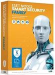 ПО Eset NOD32 Smart Security Family 5 ПК 1 год Box