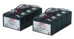 Battery replacement kit for SU2200R3IBX120, SU2200RMI3U, SU3000R3IBX120, SU3000R3IX160, SU3000RMI3U, SU5000I, SU5000R5IBX120, SU5000RMI5U, SU5000RMXLI5U (2 ряда по 4 батареи в каждом)
