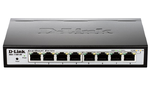 D-Link DGS-1100-10MPP/B1A, 8-Ports 10/100/1000Mbps PoE + 2-Ports SFP 1000Mbps EasySmart Switch / Surveillance Switch
