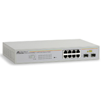 Allied Telesis 8 port 10/100/1000TX WebSmar switch with 2 SFP bays