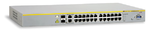 Allied Telesis 24  Port Fast Ethernet PoE WebSmart Switch with 4 uplink ports (2  x 10/100/1000T and  2 x SFP-10/100/1000T Combo ports)