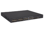 HPE 5130 24G SFP 4SFP+ EI Switch (16x100/1000 SFP + 8x100/1000 SFP or RJ-45 + 4x1/10G SFP+, Managed static L3, Stacking, IRF, 2 p/s slots, no p/s incl, 19')