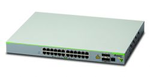 Allied telesis 24 x 10/100T POE+ ports and 4 x 100/1000X SFP (2 for Stacking), Fixed AC power supply, EU Power Cord