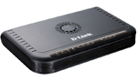 D-Link DVG-5004S/D1A, VoIP Gateway with 4 FXS ports, 1 10/100Base-TX WAN port, and 4 10/100Base-TX LAN ports.