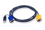 ATEN Intelligent cable HDB15m/USBAM; 3M