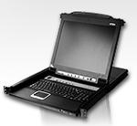 ATEN SINGLE RAIL 8P PS/2-USB LCDKVMP 19INCH (незначительное повреждение коробки)